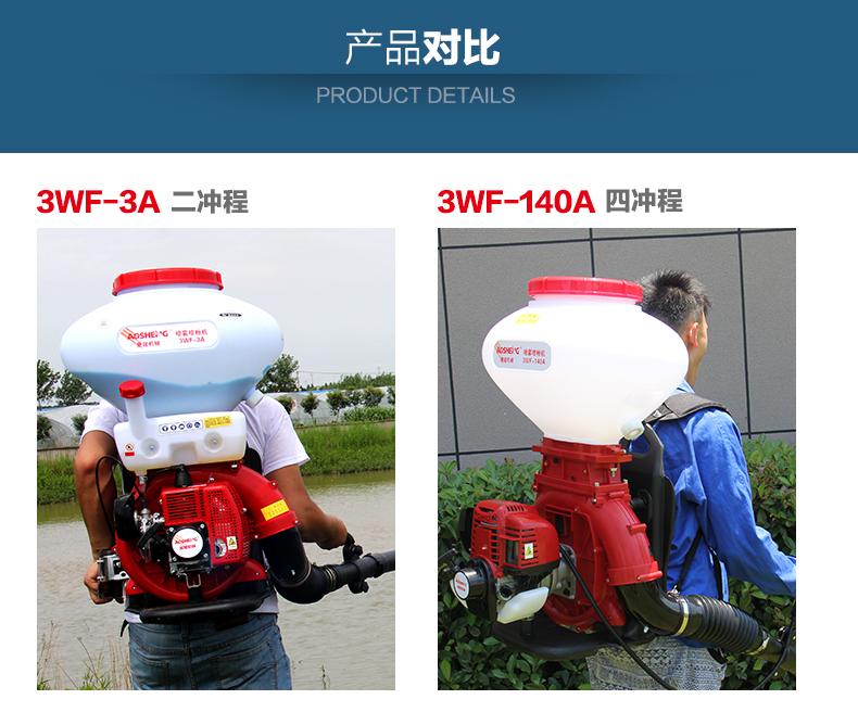 背负式汽油施肥机器 喷雾机喷粉机打药机 颗粒播种农用撒肥机产品对比1