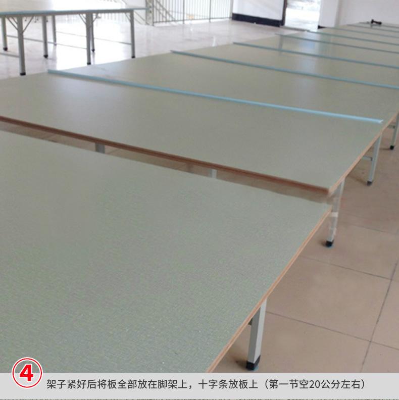 服装布料裁剪台 高品质可装卸面料 组合式裁床 流水工作台 产品安装5