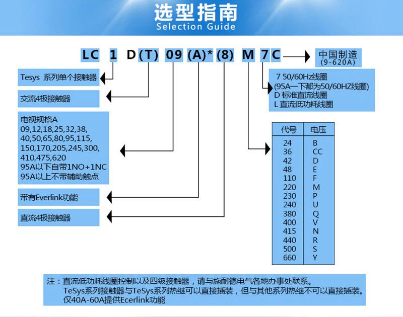 施耐德交流接触器LC1D95M7C 三极接触器1NO+1NC 一常开一常闭AC220V产品选型指南