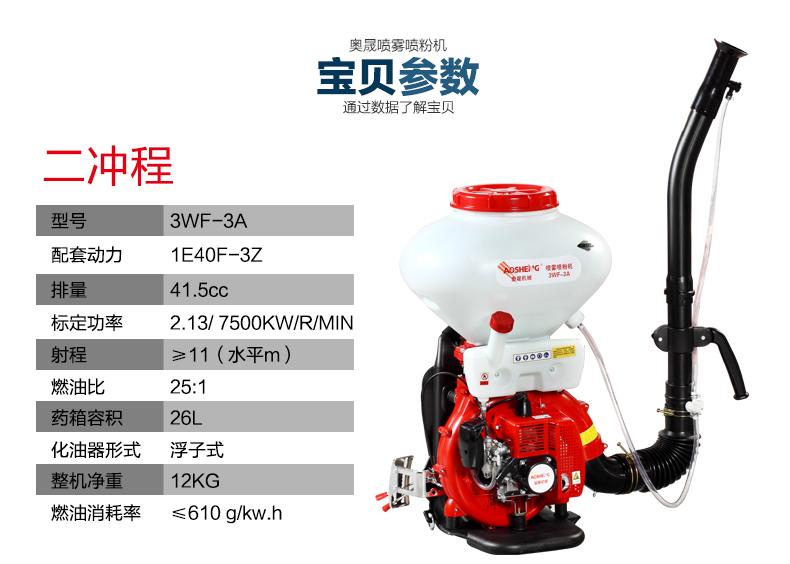 背负式汽油施肥机器 喷雾机喷粉机打药机 颗粒播种农用撒肥机产品参数1