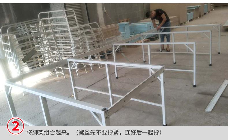 服装布料裁剪台 高品质可装卸面料 组合式裁床 流水工作台 产品安装2