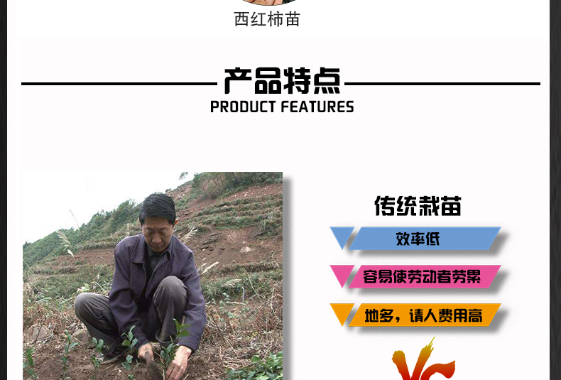 多功能种苗定植器 幼苗移栽施肥点播器 栽苗器播种机 种植耕种机械产品特点1