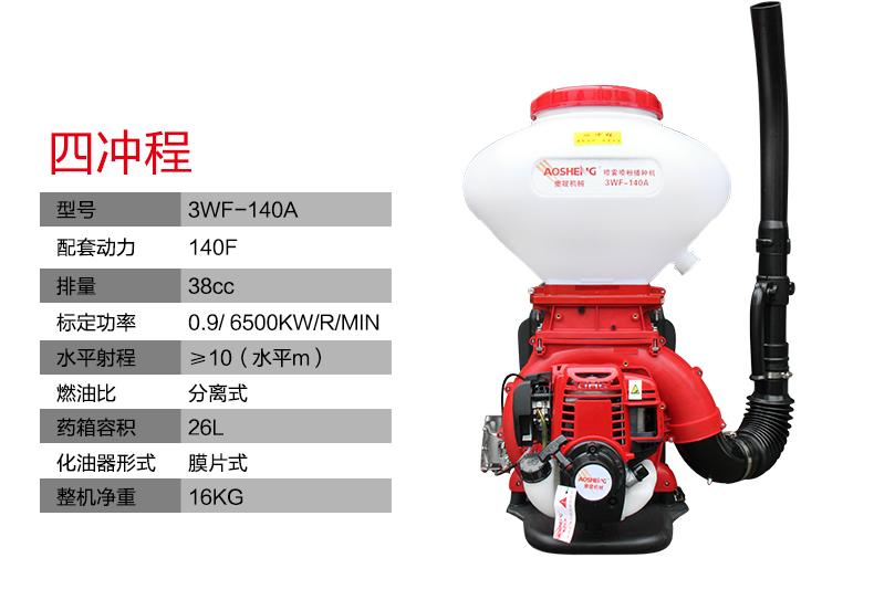 背负式汽油施肥机器 喷雾机喷粉机打药机 颗粒播种农用撒肥机产品参数2