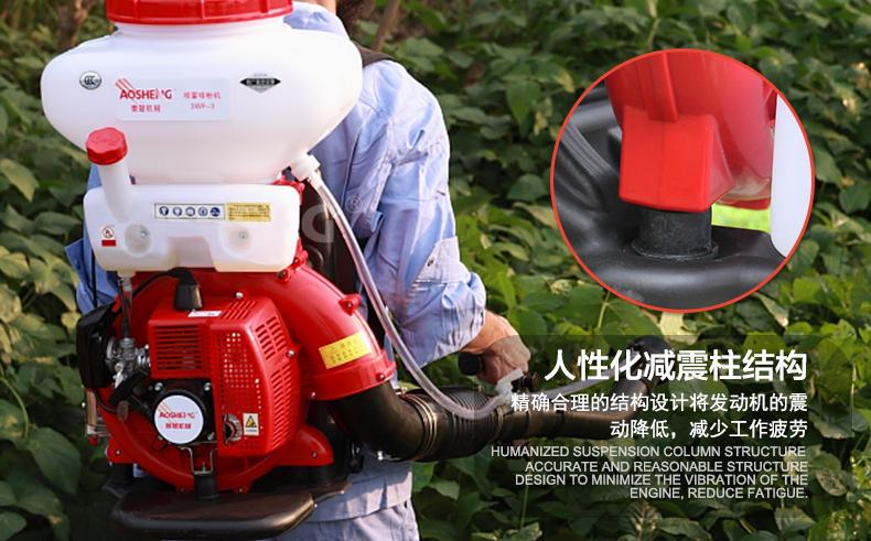 背负式汽油施肥机器 喷雾机喷粉机打药机 颗粒播种农用撒肥机产品特点2
