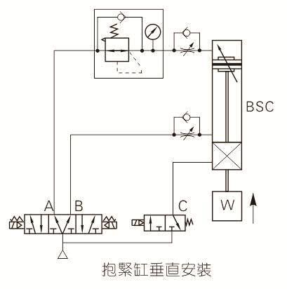 气缸电路控制接线图