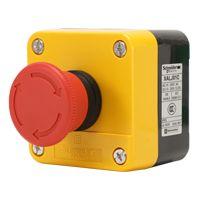 施耐德急停按钮盒急停开关防水盒XALJ01C1常闭旋转复位IP65原装正品!