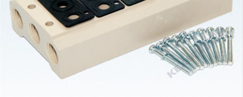 亚德客AirTAC 4V210电磁阀底座200M-1F汇流板 原装正品产品图片