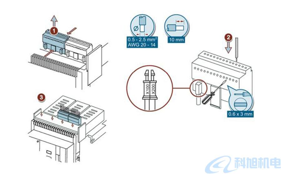 西门子断路器3WT辅助回路的连接一