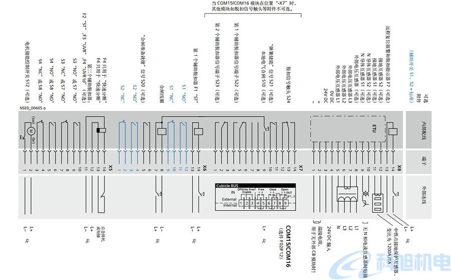 西门子空气断路器3WL互锁和连接电路原理图六