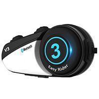 摩托车头盔蓝牙耳机对讲机 一体式无线内置耳麦 导航电话音乐 骑行摩旅用品