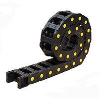内高25系列塑料拖链 坦克链线槽 电缆拖链 工程穿线链条 25*38/50/57/77/103