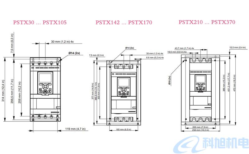 ABB软启动器PSTX型号规格与接线图七