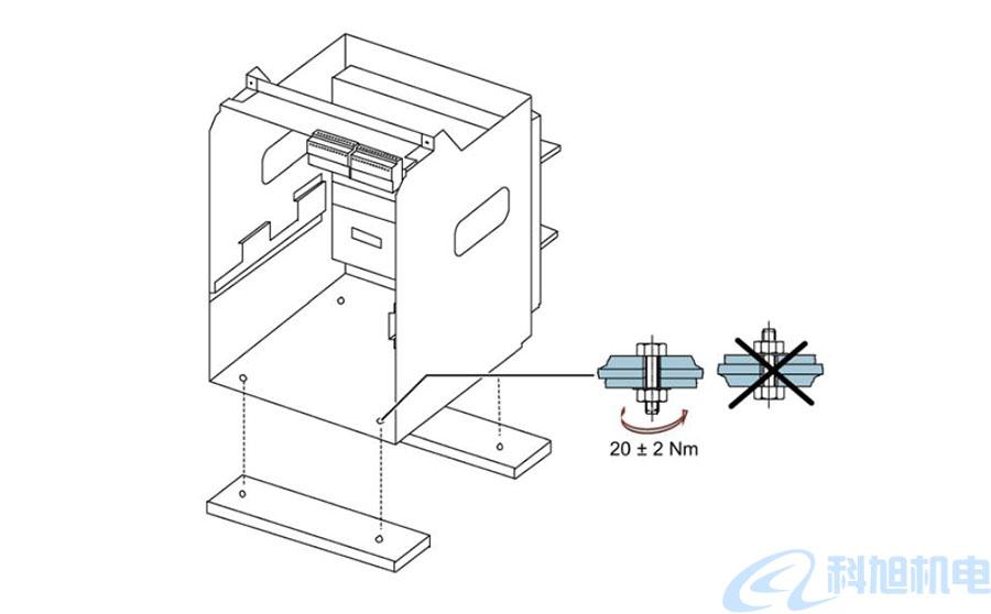 西门子断路器3WT在水平面上安装二