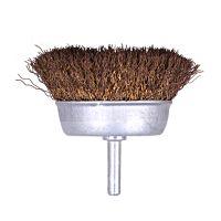 杆碗钢丝轮 带柄碗型钢丝刷 6mm柄钢丝轮 金属除锈 清洁 去毛刺 木雕去皮