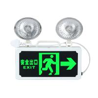 LED消防应急灯 家用充电安全出口指示牌双头应急照明灯疏散指示灯