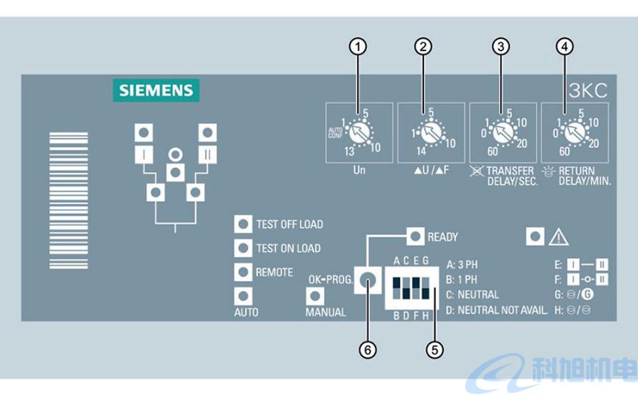 西门子双电源自动转换开关3KC系列说明书三