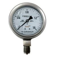 红旗仪表 YTQ-100 安全充油型不锈钢压力表 外壳防腐蚀压力表