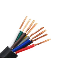 国标阻燃ZR-RVV控制电缆 护套线电源线 纯铜信号控制电缆电线 规格齐全