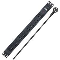 pdu机柜插座 2M8位10a16a机 柜插座专用电源排插 pdu插座排插 2m线