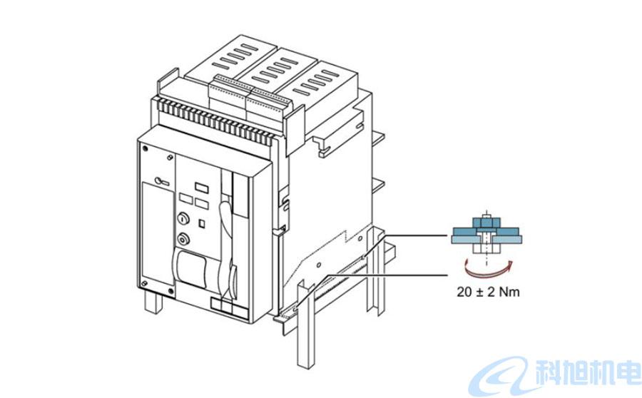 西门子断路器3WT在水平面上安装一