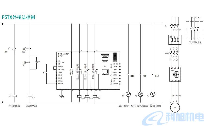 ABB软启动器PSTX型号规格与接线图十