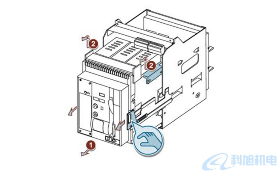 西门子断路器3WT从导向框架中取出