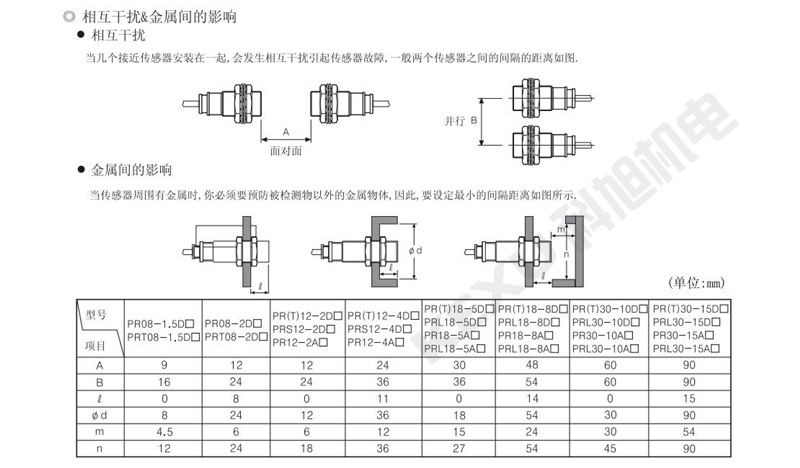 奥托尼克斯接近开关PRL18-5DN/DP2电感式接近传感器 原装正品 产品注意事项