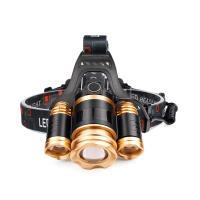 led感应头灯充电强光超亮 户外打猎钓鱼远射防水电筒 头戴式探照矿灯