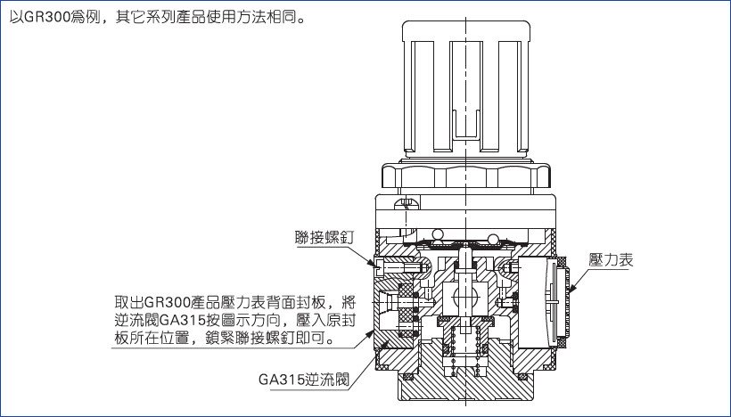GA315逆流阀说明图