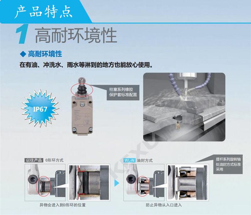 欧姆龙限位开关WLCA12-2LE-N动作显示型 原装正品 产品特点1