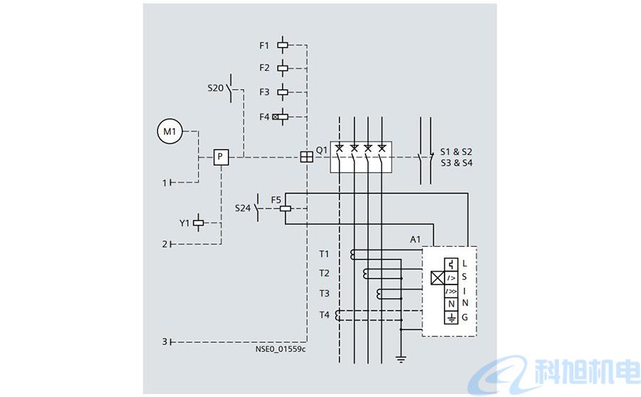 西门子空气断路器3WL互锁和连接电路原理图八