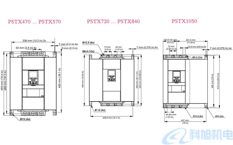 ABB软启动器PSTX型号规格与接线图八