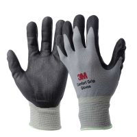 3M 舒适型防滑耐磨手套 工业工作劳动 丁腈掌浸防寒 劳保防护手套