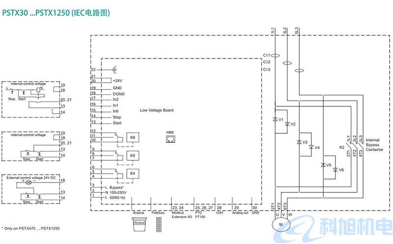 ABB软启动器PSTX型号规格与接线图九