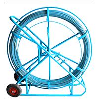 玻璃钢穿管器 墙壁电缆线管管道通管器 线槽穿孔器 钢芯引线器带轮子