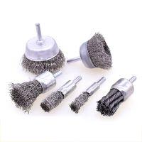 不锈钢钢丝笔刷 钢丝铜丝轮 杆碗型打磨轮 金属除锈 去油污 除毛刺 去碳灰