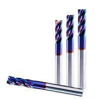 60度1-20MM 平端4刃铣刀 进口钨钢涂层 整体硬质合金平底刀 淬火材料专用