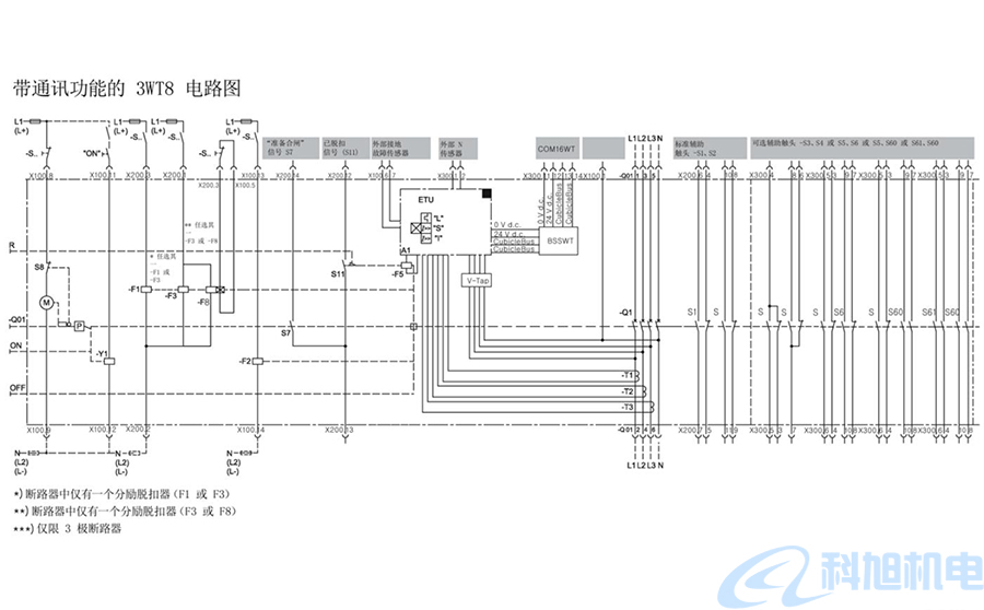 西门子空气断路器3WT接线图及词汇表二