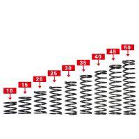 螺旋压缩弹簧 标准压簧 优质弹簧钢 线径0.3-3.0 mm外径2-50mm 一包10只