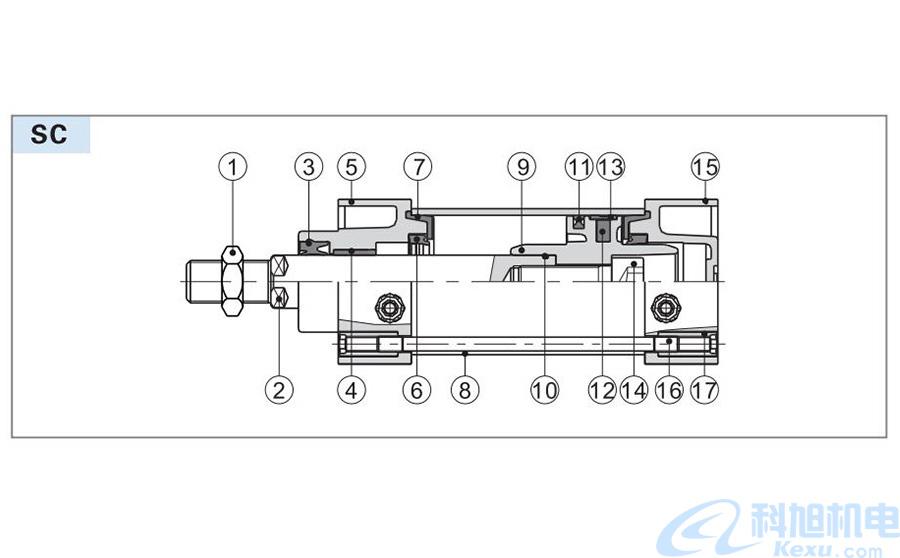 亚德客标准气缸SC系列带阀型样本五