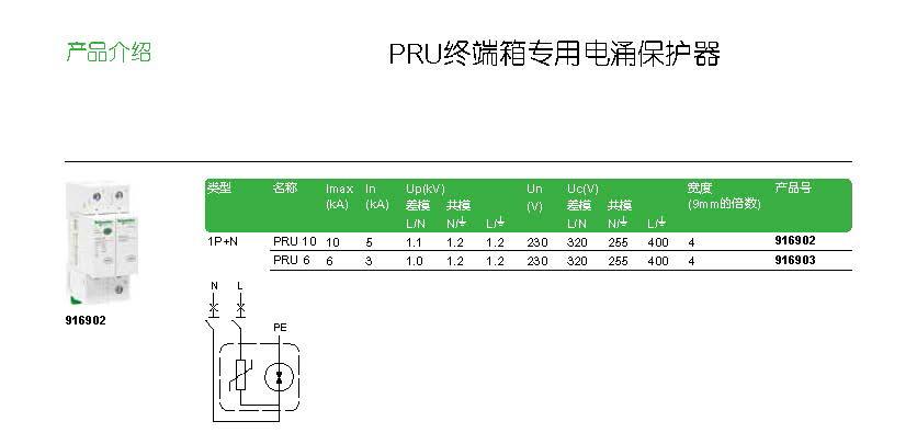 PRU终端箱专用电涌保护器介绍