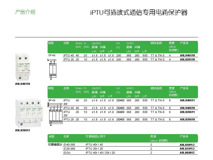 iPTU可插拔式通信专用电涌保护器介绍