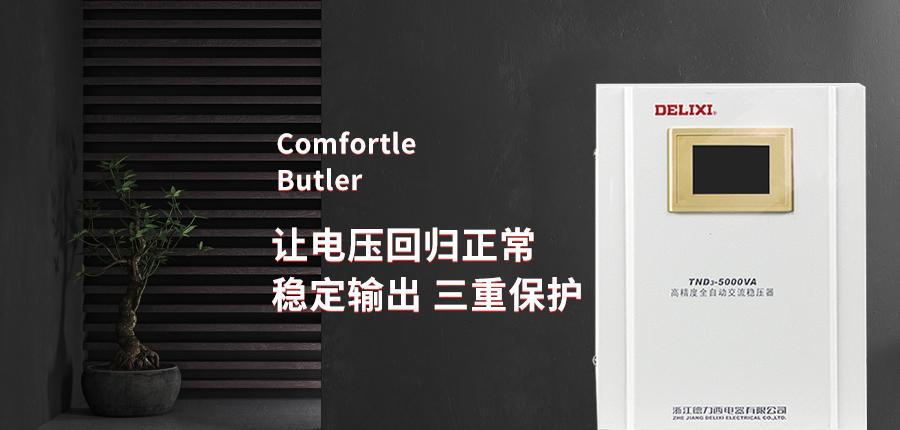 德力西稳压器220V全自动家用单相5000w稳压器海报说明